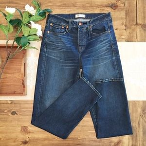 Madewell Cruiser Straight Jeans Button Fly 26